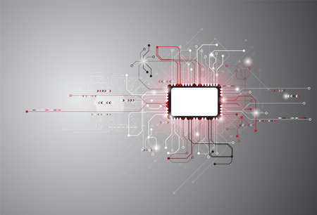 Modern technology circuit board The concept of electronic connection used as a background vector