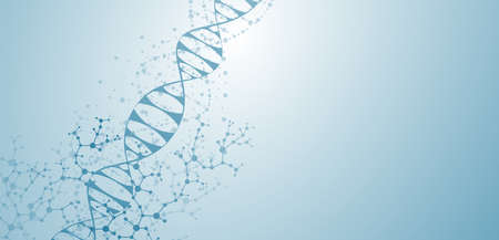 Abstract medical dna background and healthcare technology health science and research Vector illustration