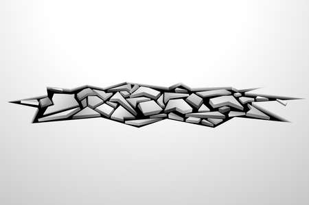 cracks 3D on a white background are used as Vector illustrations.