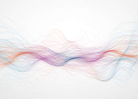 Abstract color wave network connection concept Vector eps 10 矢量图像
