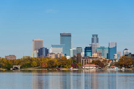 Minneapolis Skyline View from Lake Calhoun