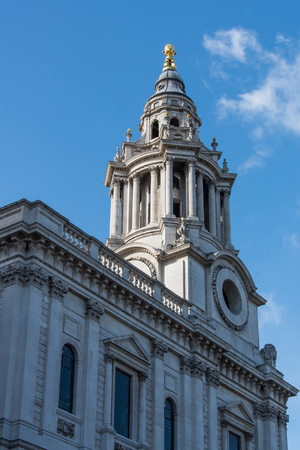 st pauls cathedral: St. Pauls cathedral in London Stock Photo