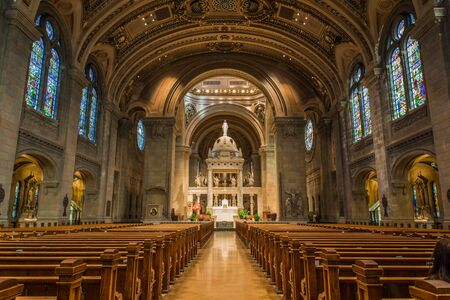 nave: This is the Basilica of St. Mary in Minneapolis, Minnesota. This shows the nave leading into the altar and sanctuary. This shows the nave leading into the altar and sanctuary.