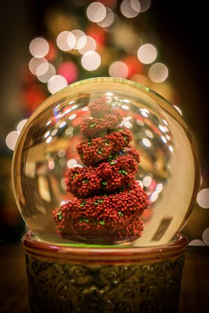 topiary: This is a snow globe containing a topiary