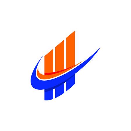 Diseño de icono de vector de plantilla de finanzas empresariales