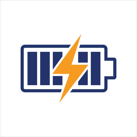 LIGHTING BOLT & BATTERY SIGN SYMBOL,  Electricity Logo, electric logo and icon Vector design Template. Lightning Icon in Vector. Lightning Logo, Power Energy Logo Design Element, BATTERY logo  vector design