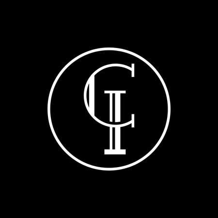 Creative modern elegant trendy unique artistic CI initial based letter icon logo, CI letter vector logo, CI Letter Logo Design with round shape,  logotype of letter C and I,  C & I Letter logo alphabet design,