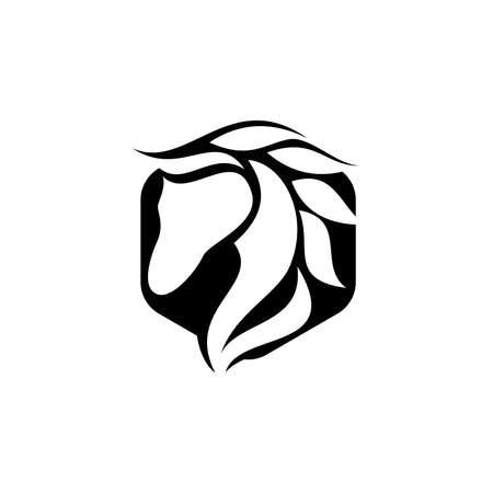 horse elegant logo symbol vector for company, Creative Horse Head Logo Icon Symbol Vector Design Illustration, Black Horse Logo Icon