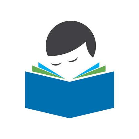 Baby book reading logo sign symbol