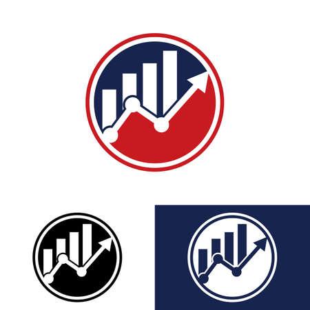 Logotipo Contabilidad Financiera Icono Vector Plantilla Diseño Logotipo Financiero Logos