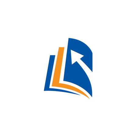 Modèle de conception de logo de concept de livre créatif, logo de l'éducation