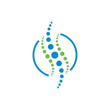Modèle de conception de logo de concept de chiropratique médicale créative, logo de chiropratique, soins de la colonne vertébrale, massage chiropratique douleur au dos et icône d'ostéopathie