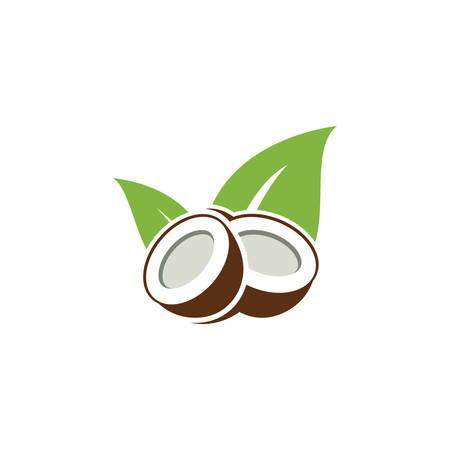 coconut tree design, Nature product coconut oil emblem