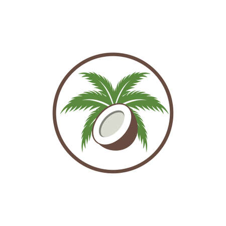 coconut tree design, Nature product coconut oil emblem Banque d'images - 138419629