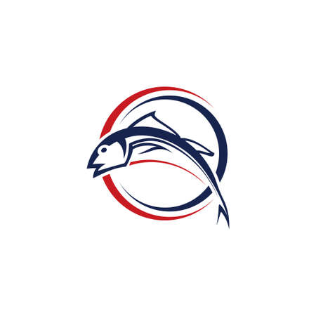 Fishing logo template, Fishing Logo Icon Stock fotó - 138422940