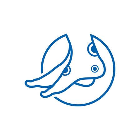 Foot Care logo designs vector, foot logo design template