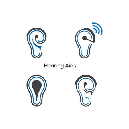 Hearing aids  Ear aids logo design Иллюстрация
