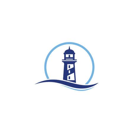 Lighthouse logo design template vector