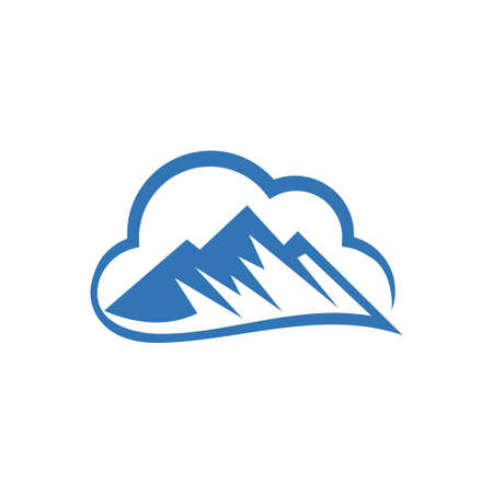 vector mountain and outdoor adventures logo, Mountain Logo Template Иллюстрация
