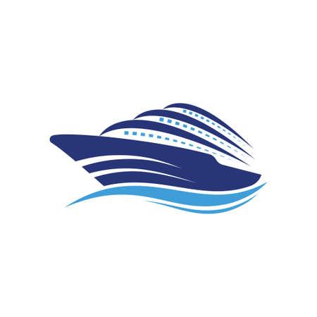 Logo statku Rejs lub logo statku Logo łodzi