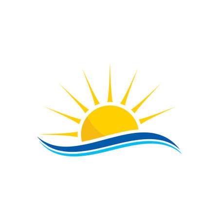 abstract creative sun logo design, Sunburst icon