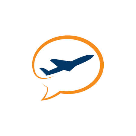 Travel Logo Design Template airplane tickets travel agencies - planes and emblems