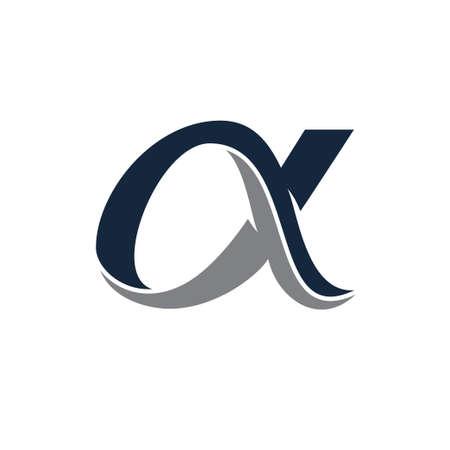 A letter logo, Alpha logo design template