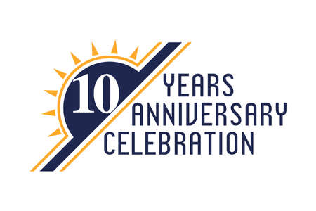 Anniversary logo template Vector design birthday celebration.  Design for booklet leaflet magazine brochure poster web invitation or greeting card Ilustração