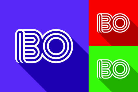 B and O combination Lines Letter. Creative Line Letters Design Template