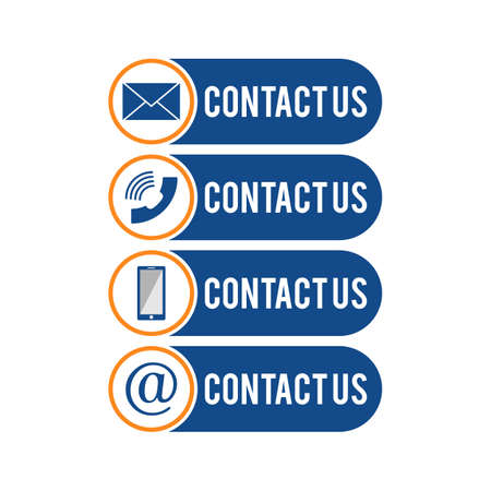 Contact us icons. Web icon set, Contact support sign and symbols