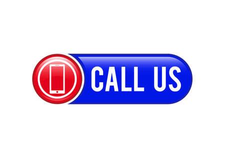 Call Us button, Contact Us icon design, Call Us Banner Ilustração