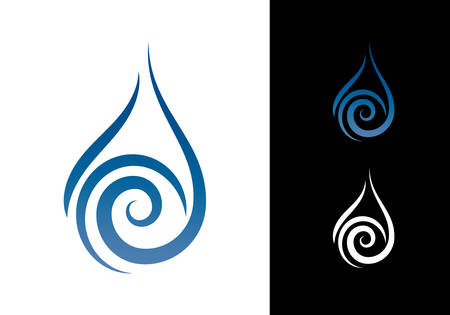 Abstract Water Drop Symbol Logo Design Template Icon Ilustracja