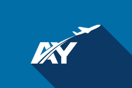 Initial Letter A and Y with Aviation Logo Design, Air, Airline, Airplane and Travel Logo template.