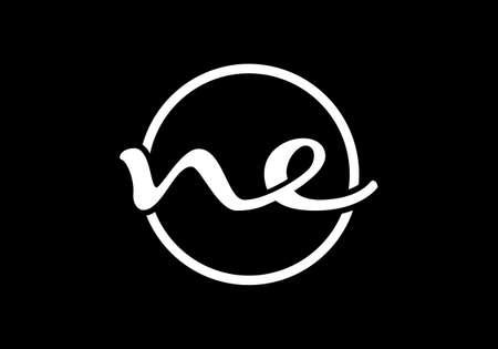 N E, NE Initial Letter Logo design vector template, Graphic Alphabet Symbol for Corporate Business Identity Logo