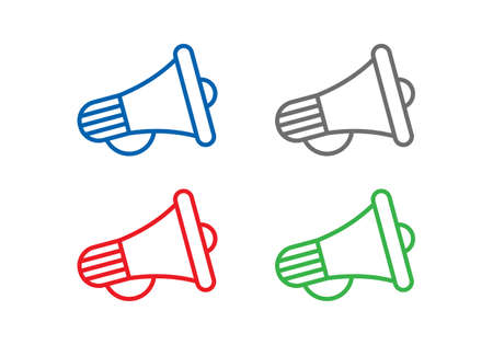 Electric megaphone or marketing advertising vector icon for apps and websites