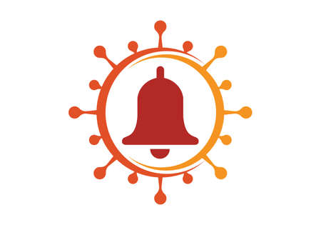 Corona virus alert sign symbol. Covid-19, Corona virus infection emblem flat vector illustration.