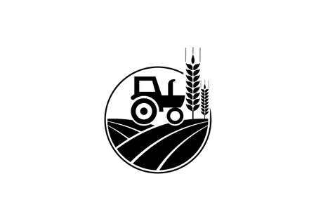 Tractor logo or farm logo template, Suitable for any business related to agriculture industries.
