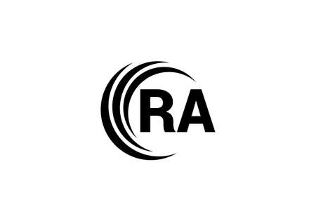 R A, RA Initial Letter Logo design vector template, Graphic Alphabet Symbol for Corporate Business Identity