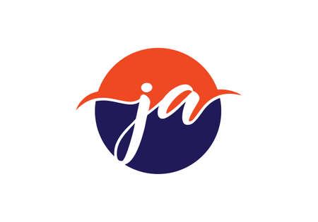 J A, JA Initial Letter Logo design vector template, Graphic Alphabet Symbol for Corporate Business Identity Logó