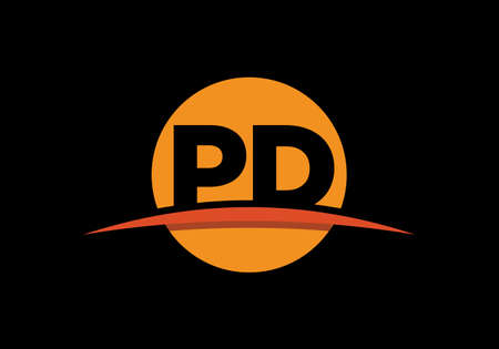 P D, PD Initial Letter Logo design vector template, Graphic Alphabet Symbol for Corporate Business Identity