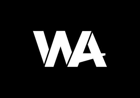 W A, WA Initial Letter Logo design vector template, Graphic Alphabet Symbol for Corporate Business Identity Logo