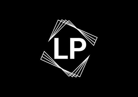 L P Initial Letter Logo design vector template, Graphic Alphabet Symbol for Corporate Business Identity