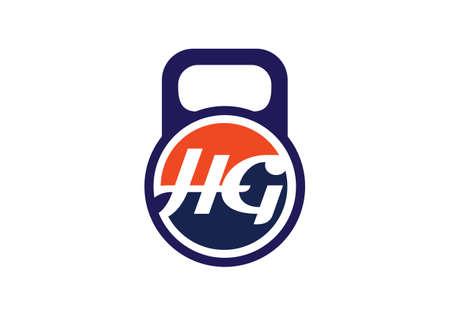 Initial Monogram Letter HG Logo Design Vector Template. HG Letter Logo Design
