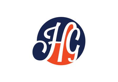 Initial Monogram Letter HG Logo Design Vector Template. HG Letter Logo Design Logó