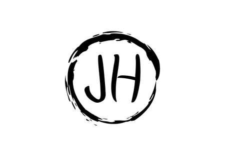 Initial Monogram Letter J H Logo Design Vector Template. JH Letter Logo Design