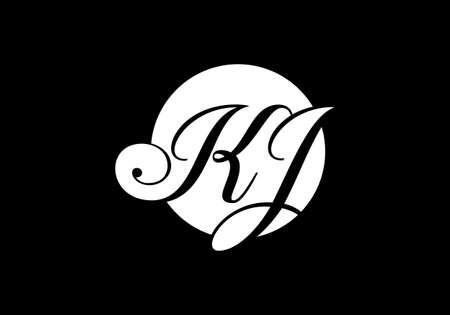 Initial Monogram Letter K J Logo Design Vector Template Kj Letter Royalty Free Cliparts Vectors And Stock Illustration Image 145241156