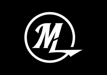 Initial Monogram Letter M L Logo Design Vector Template. ML Letter Logo Design Logo
