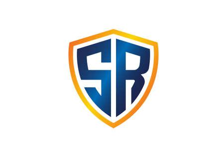 Initial Monogram Letter SR Logo Design Vector Template. Graphic Alphabet Symbol for Corporate Business Identity Logó