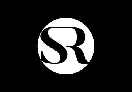 Initial Monogram Letter SR Logo Design Vector Template. Graphic Alphabet Symbol for Corporate Business Identity