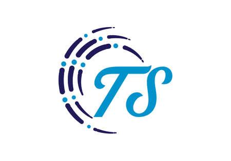 Initial Monogram Letter T S Logo Design Vector Template. TS Letter Logo Design Logó
